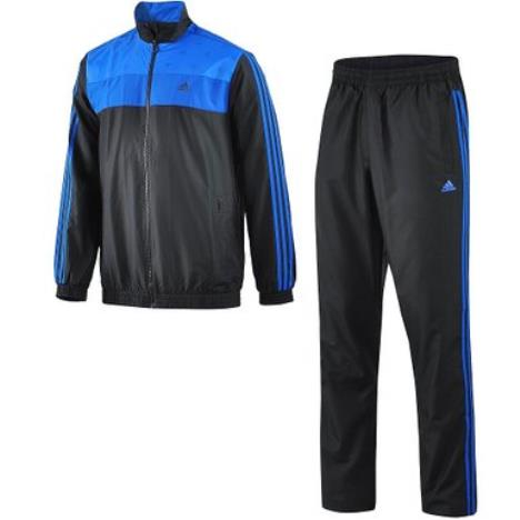 Adidas Mens Micro Fibre Tracksuit Black/Royal